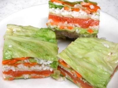 Красная рыба маринованая в шубе кодзи Рецепт
